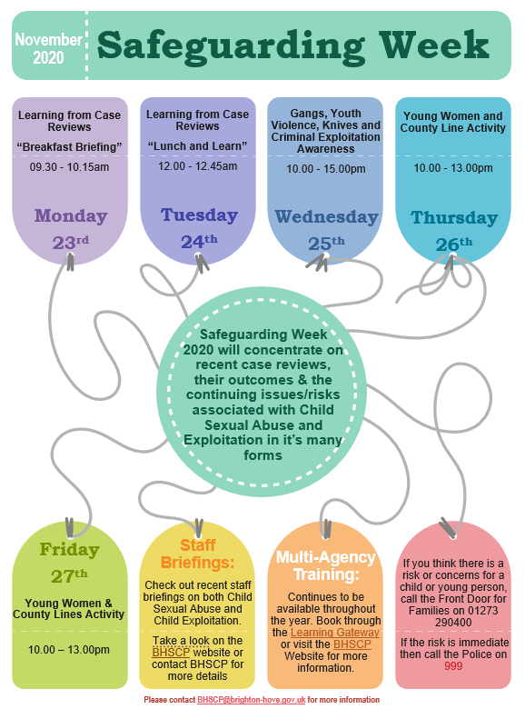 Safeguarding Week 2020 - Events List